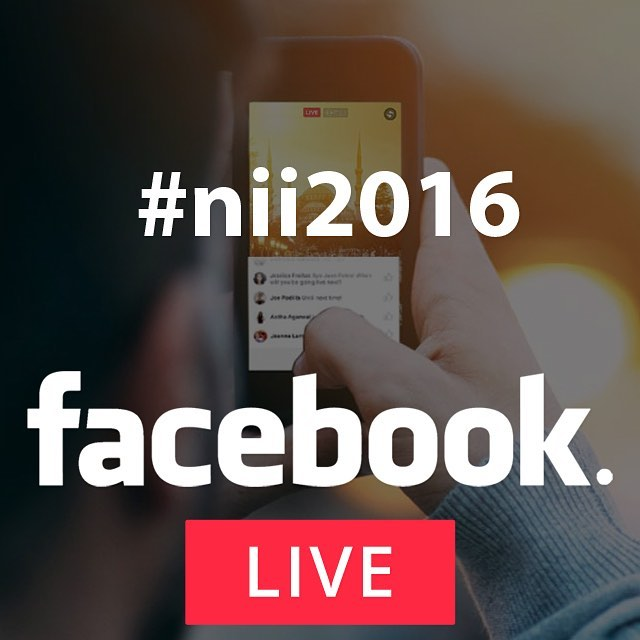 TUNE IN to our facebooklive shows during our nii2016 conferencehellip